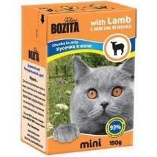 Корм Bozita Mini Chunks in Jelly with Lamb для кошек, ягненок, кусочки в желе, tetra pak, 190 г
