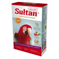 Корм Султан для крупных попугаев, трапеза с экзотическими фруктами и орехами, 400 г