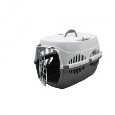 Переноска для животных Спутник-1 ZooM с металлической дверцей, до 9 кг, 29*43*27.5 см