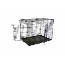 Клетка металлическая с 2 дверками, 76x54x61 см, черная, Wire cage black 2