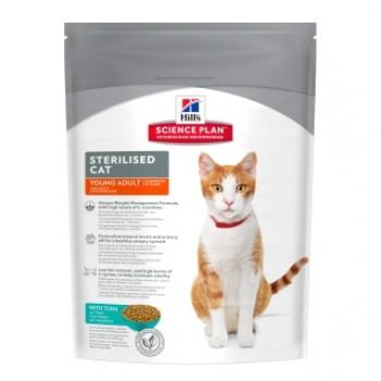 Hills Science Plan Sterilised Cat корм для молодых кошек от 6 месяцев до 6 лет, тунец, 8 кг