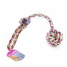 """Игрушка Papillon Cotton flossy toy ball with handle для собак """"Веревка с узлом"""", хлопок, 50х6.5 см"""