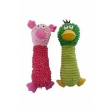"""Игрушка Papillon Duck and pig для собак """"Забияка"""" с пищалкой, плюш, 32 см"""