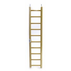 Деревянная лесенка для птиц 10 ступеней, Ladder wood 10 rungs, 10.5x49 cм