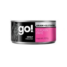 Корм GO! Grain Free Chicken Pate CF для кошек, беззерновой, курица, паштет, банка, 100 г