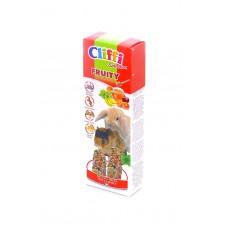 Cliffi Лакомства для морских свинок и кроликов: палочки с фруктами и медом, (Sticks for rabbits and guinea pigs honey and fruit, Fruity SELECTION, 110 гр