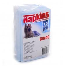 Впитывающие пеленки для собак (целлюлоза) 60*40, 10шт.