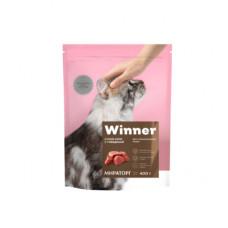 Корм Winner для стерилизованных кошек, говядина