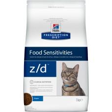 Hills Prescription Diet Feline z/d диета при пищевой аллергии у кошек, 2 кг