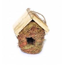 """Домик для птиц """"Натуральный"""" 15*12*20 см, Bird nest """"nature"""" type 1"""