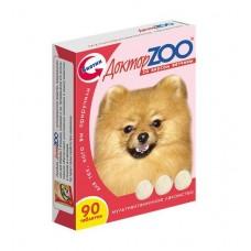 Мультивитаминное лакомство Доктор Zoo, для собак, ветчина, 90 таблеток