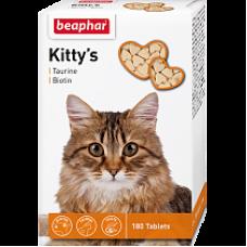 Беафар для кошек TAURIN/BIOTIN сердечки 180 таб.