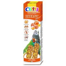 Палочки Cliffi Sticks budgerigars exotics with eggs and honey Selection Energy для волнистых попугаев и экзотических птиц, яйцо/мед, 60 г