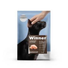 Корм Winner для кошек, профилактика мочекаменной болезни, курица