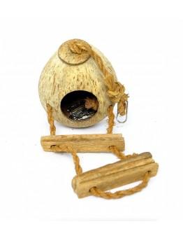 Кокосовый домик Benelux Coconut house type 2 с лесенкой, 15х11х11 см.