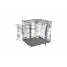 Клетка металлическая с 2 дверками, 61x54x58 см, Wire cage 2 doors