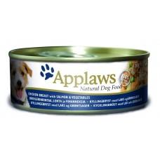 Applaws консервы для собак с курицей, лососем и рисом, Dog Chicken, Salmon & Rice, 156 гр