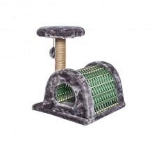 Домик-когтеточка ЕСО Плетенка полукругл.43*54,5*50