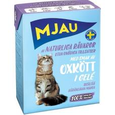 Корм MJAU для кошек, говяжий фарш, в желе, tetra, 380 г