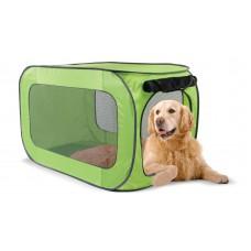 Переносной домик для собак гигантских пород, 62,2х62,2х101,8 см, полиэстер, Portable dog kennel X-large