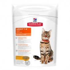 Hills Science Plan Optimal Care корм для кошек от 1 до 6 лет, курица, 400 гр