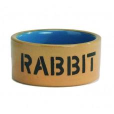 Миска керам для кролика бежево-голуб 11,5см 801482