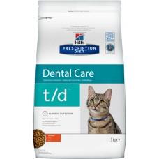 Hill's Prescription Diet Feline t/d лечение заболеваний полости рта