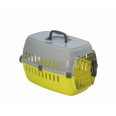 Переноска Roadrunner с металлической дверью+замок, 48,5x32,3x30,1 см, лимонно-желтый, roadrunner I SPRING lock