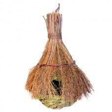 Гнездо-домик для птиц с соломенной крышей  РТ6931