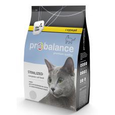 Корм ProBalance Sterilized для кастрированных котов и стерилизованных кошек, курица, 400 г
