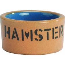 Миска керам для хомяка бежево-голубая 7,5см 801445
