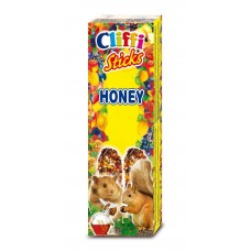 Cliffi Лакомство для Хомяков и белок: палочки с медом, Sticks hamsters and squirrels with honey, 110 гр