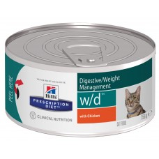 Hill's Prescription Diet Feline w/d, контроль веса, 156 гр