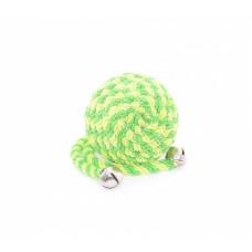 """Игрушка Papillon Ball with bells green для кошек """"Мячик"""", с бубенчиком, зеленый, нейлон, 5 см"""