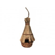 Гнездо-конус темн с солом.крыш.д/птиц 310мм РТ6953