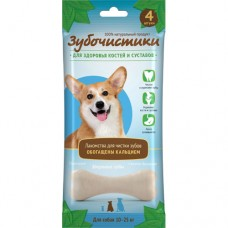 Зубочистики для собак средних пород, кальциевые, 4 шт, 90 гр