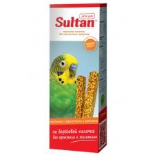 Зерновые палочки Султан для волнистых попугаев, фрукты/орехи/мед, 2 шт