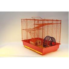 Vip-клетка №2 Yami-Yami для грызунов, 41x30x37 см, 2 этажа, домик, колесо (14 см), миска (6 см)