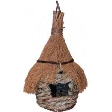 Гнездо для птиц с мелк.солом.крыш. 260мм РТ6705