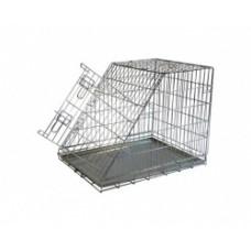 Клетка металлическая с уклоном, 97x64x69 см, Wire cage with slope side