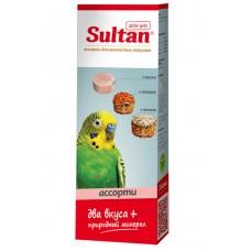 Минеральный камень Султан для волнистых попугаев, просо/зерно/овощи/орехи, 3 шт