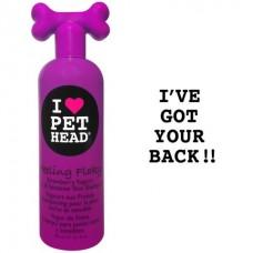 Клубнично-йогуртовый шампунь для сухой и чувствительной кожи собак с юккой, ромашкой и шелком, без сульфатов и парабенов, FEELING FLAKY