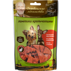Деревенские лакомства для малых пород, ломтики крольчатины, 55 г