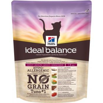 Hills Ideal Balance No Grain натуральный беззерновой корм для кошек от 1 года до 6 лет, тунец