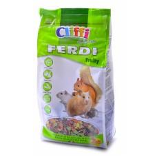 Cliffi Корм для хомяков, мышей, белок и песчанок с фруктами, грецкими орехами и морковью, Ferdi Fruity SELECTION