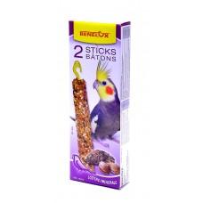 Лакомые палочки Benelux Seedsticks parakeet iodine/shells x 2 pcs для длиннохвостых попугаев, витамины/йод/клейчатка, 110 г