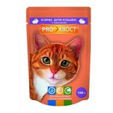 Корм Прохвост для кошек, кролик, в соусе, пауч, 85 г