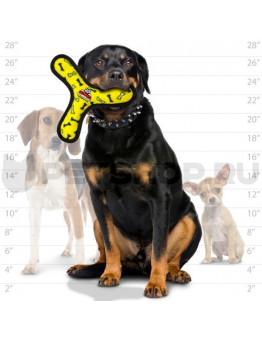 Супер прочная игрушка для собак Бумеранг, желтый, прочность 8/10, Ultimate Bowmerang Yellow Bone