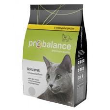 Корм ProBalance Sensitive для взрослых кошек с чувствительным пищеварением, курица/рис