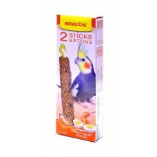 Лакомые палочки Benelux Seedsticks parakeet Honey/Eggs x 2 для длиннохвостых попугаев, яйцо/мед, 110 г